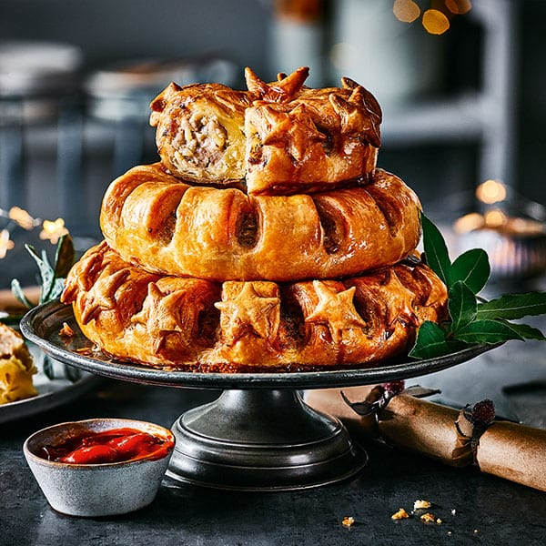 M&S sausage roll stack