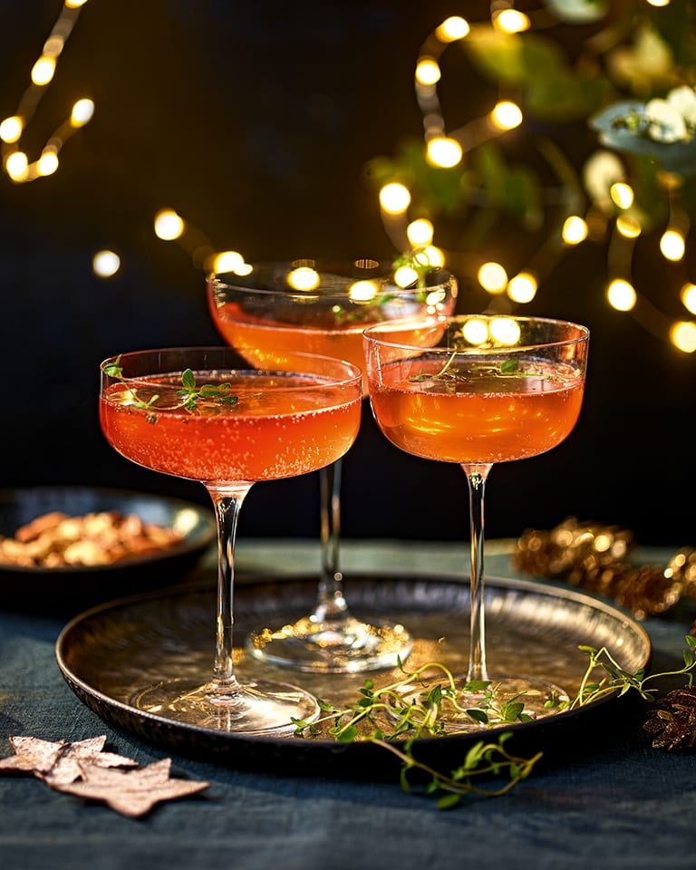 Christmas Campari fizz