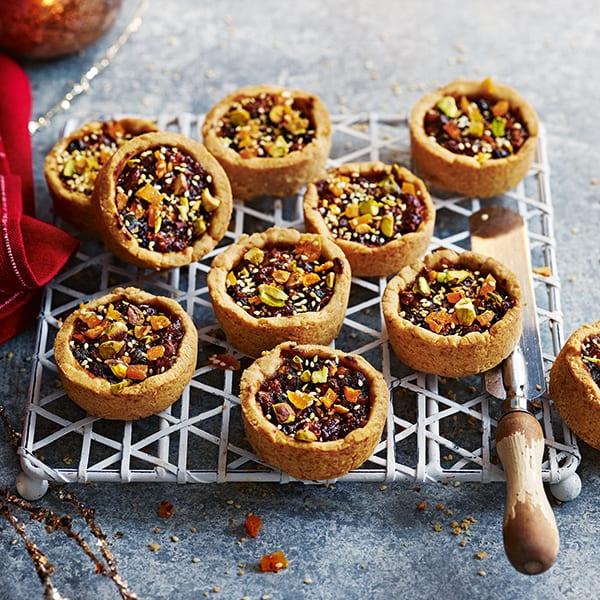Jewelled tahini mince pie