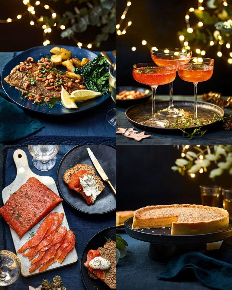 Rick Stein's celebration  dinner menu