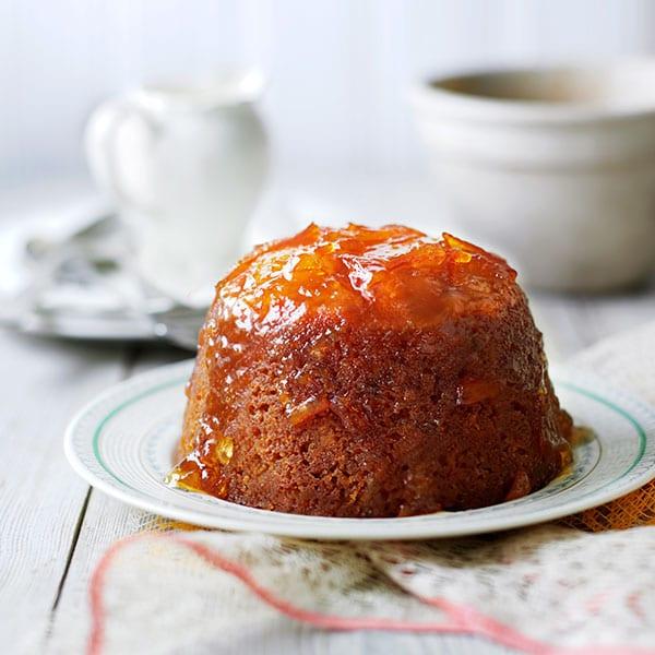 Marmalade sponge puddings