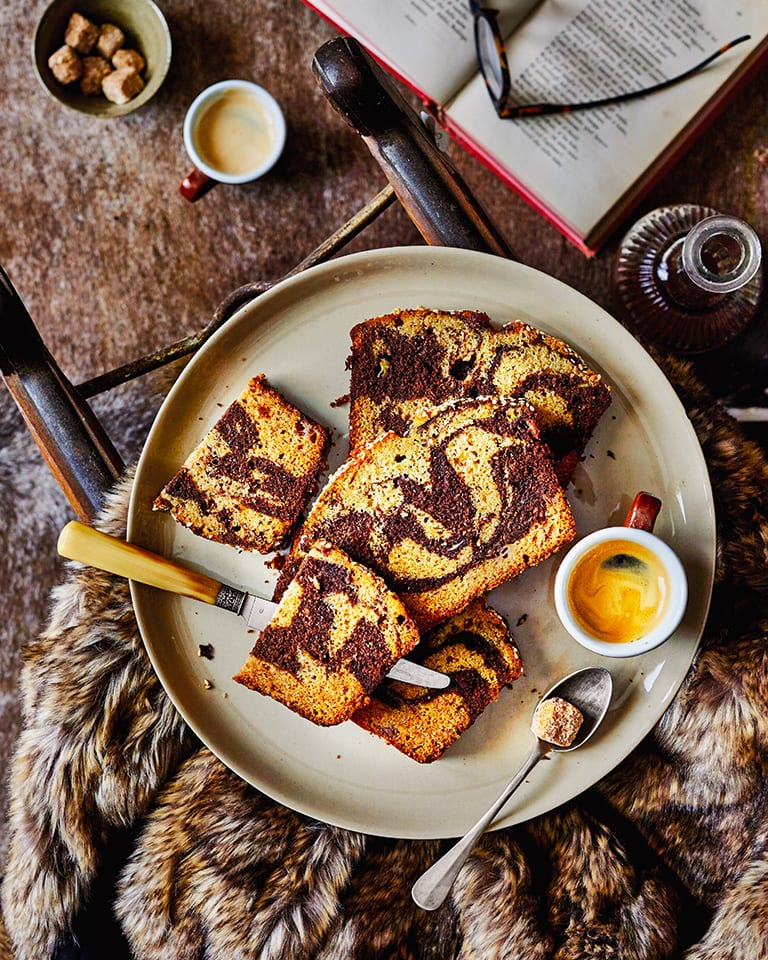 Banana, chocolate and tahini loaf cake