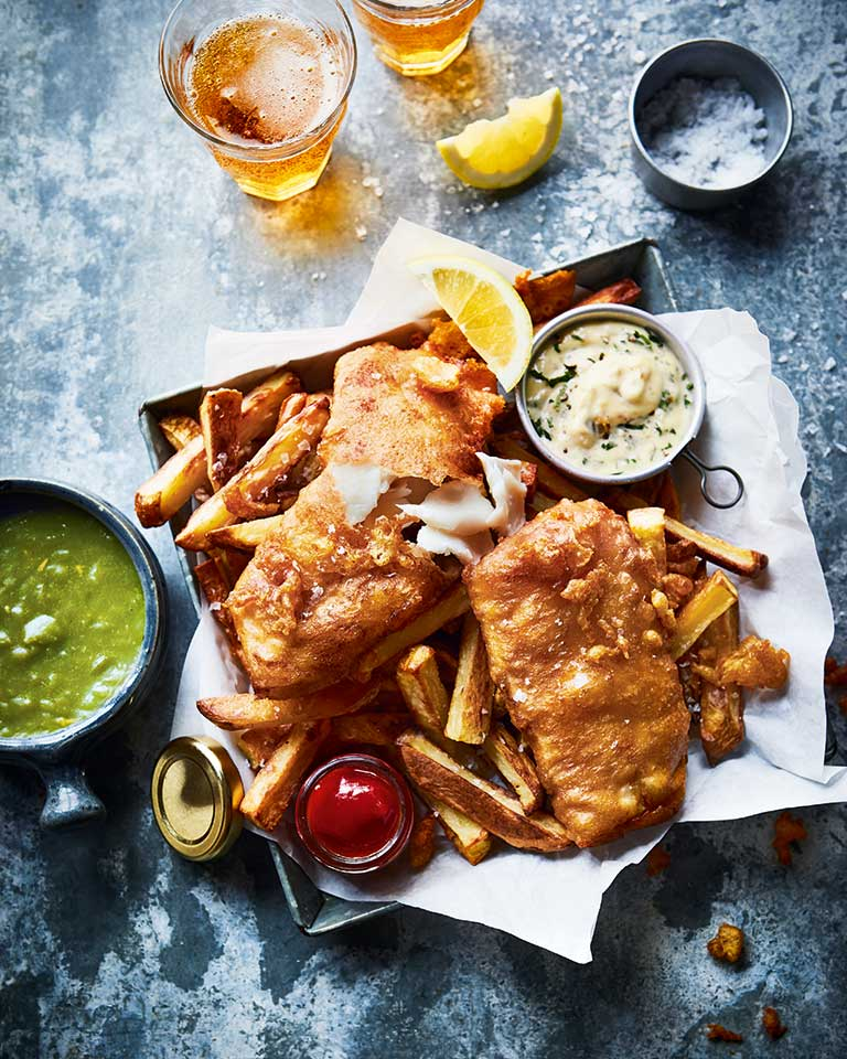 Fish and chips for two