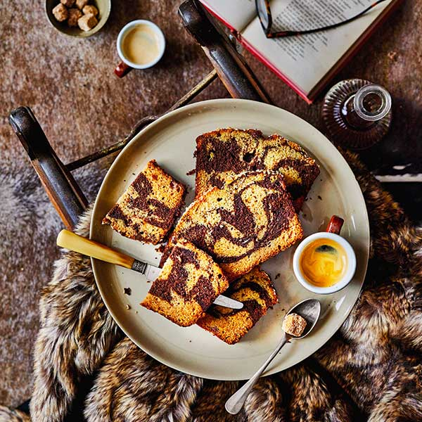 Banana chocolate and tahini loaf