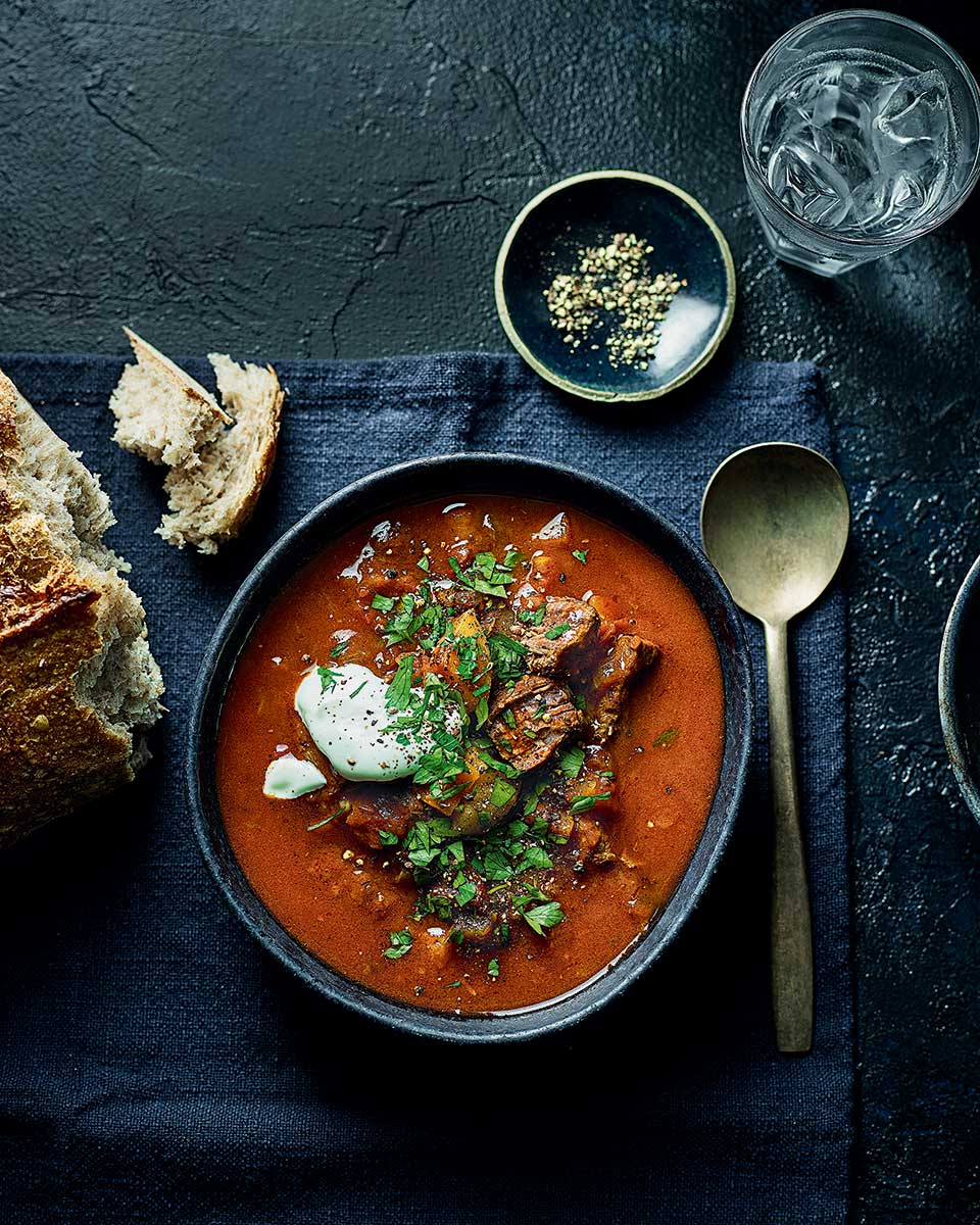 Slow Simmered Goulash Soup Delicious Magazine