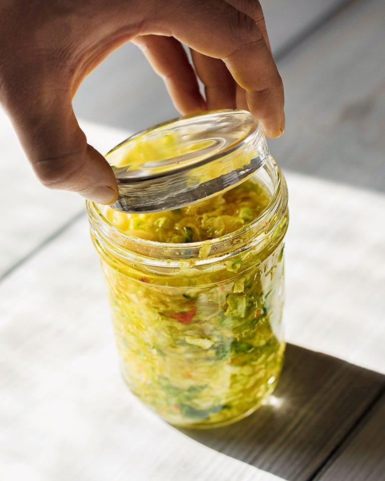 Golden sauerkraut