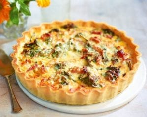 Chard and cheese tart