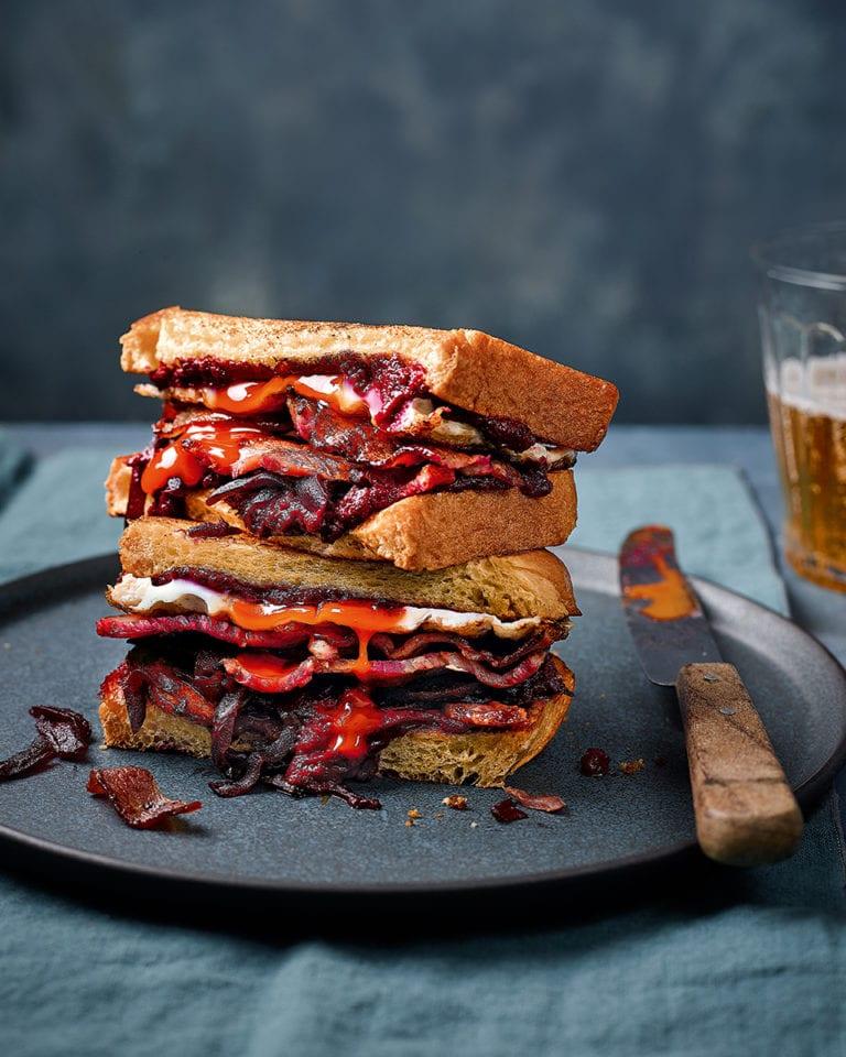 Fry-up sandwich