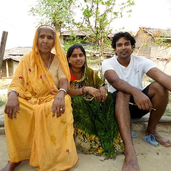 Santosh and mum
