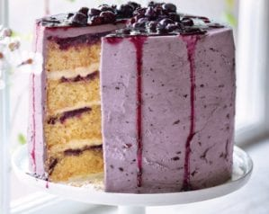 Blueberry layer cake