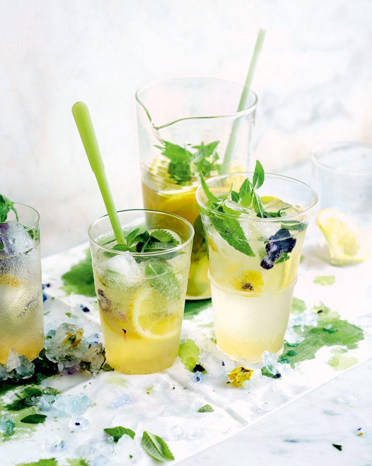 Lemon verbena and vanilla cordial