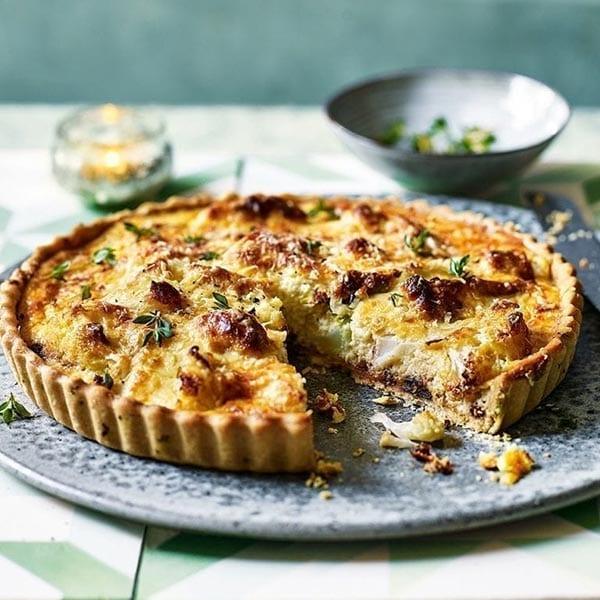 onion and cauliflower tart