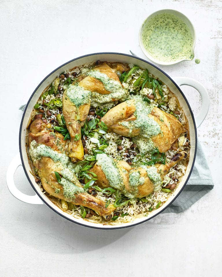 Chicken and coconut rice pilaf