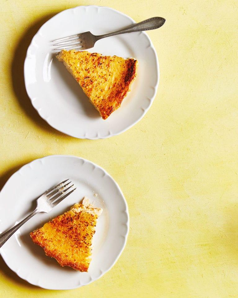 Fiadone cheesecake
