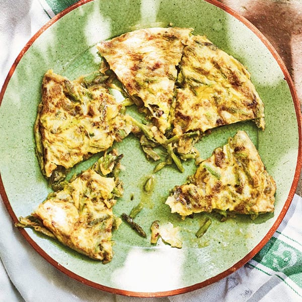 Asparagus tortilla