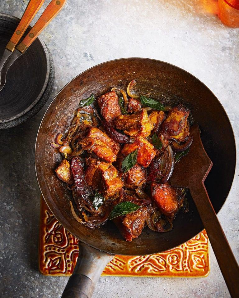 Coorg pandhi pork stir-fry