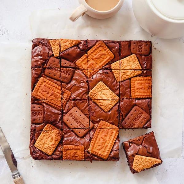 Tea and biscuit brownies
