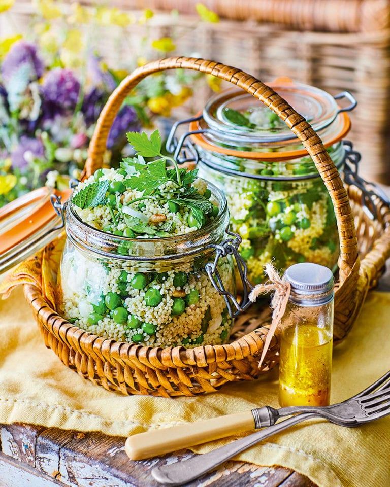 Fresh pea and lemon couscous