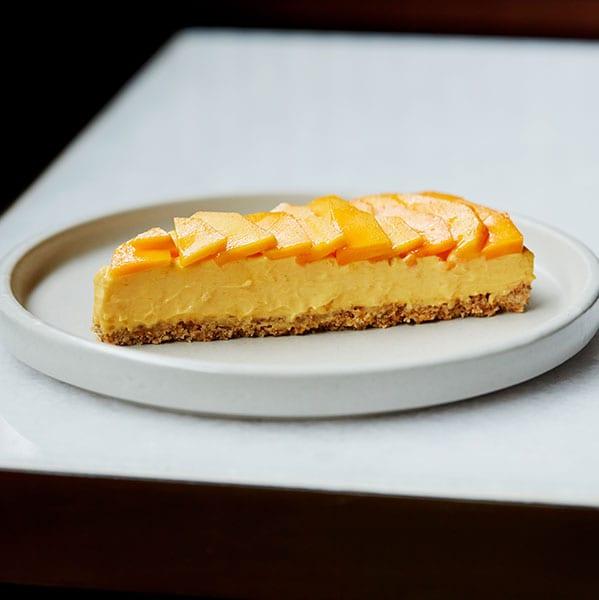 Alphonso mango cheese cake