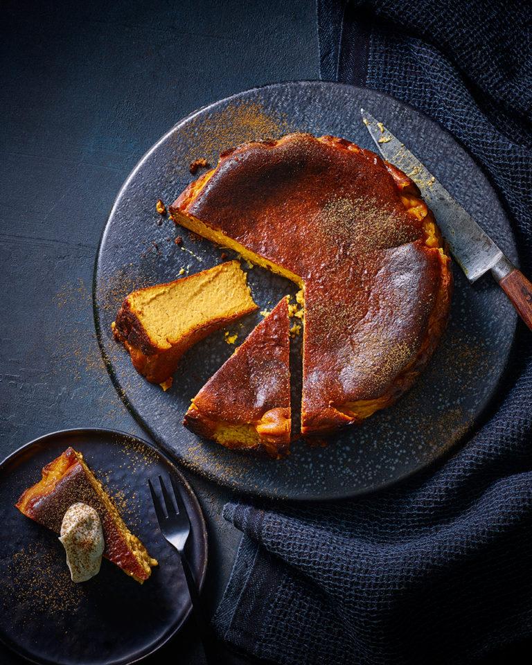 Burnt pumpkin cheesecake