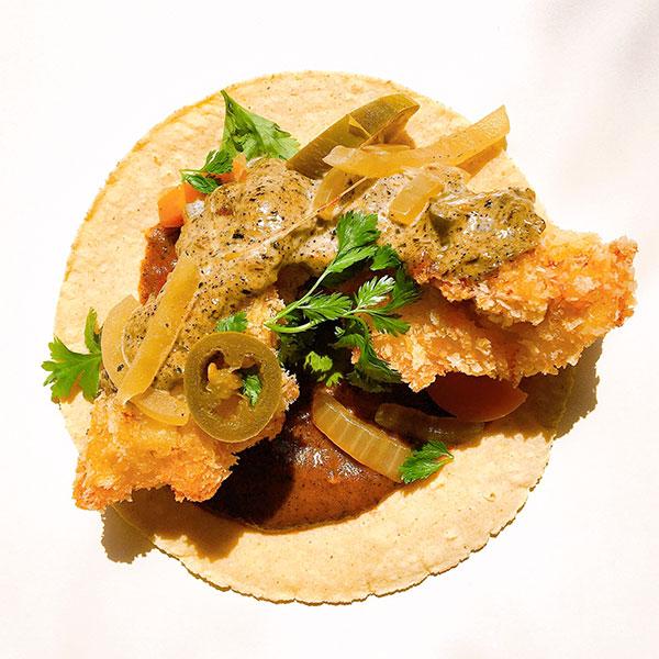 Chicken taco