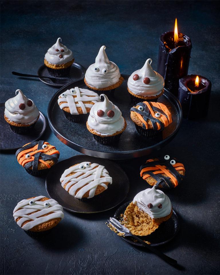 Halloween pumpkin spiced cupcakes